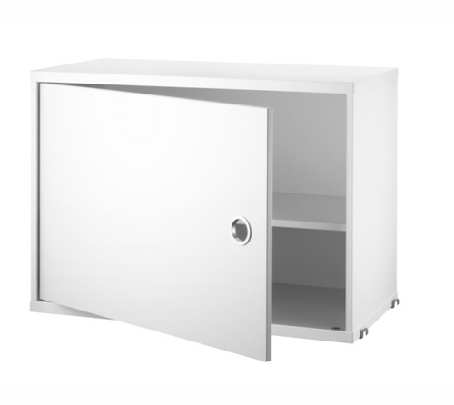 String Cabinet with Swing Door - White