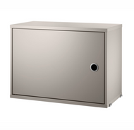 String Cabinet with Swing Door - Beige