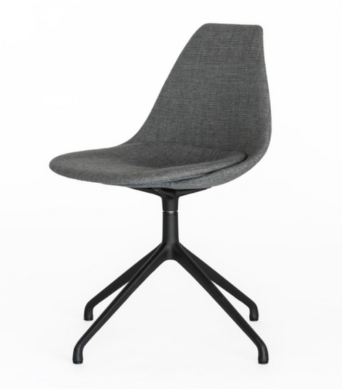 Ziba Chair - Dark Grey/Dark Grey/Black Base