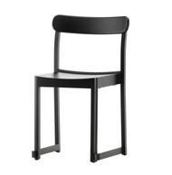 Frame and back: Solid beech, black lacquer Seat: Beech veneer, black lacquer
