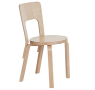 Legs, seat edge-band and backrest: birch, clear lacquer Seat: birch, clear lacquer