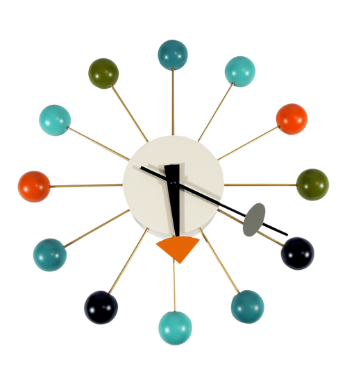 Vitra Ball Clock by George Nelson multi coloured