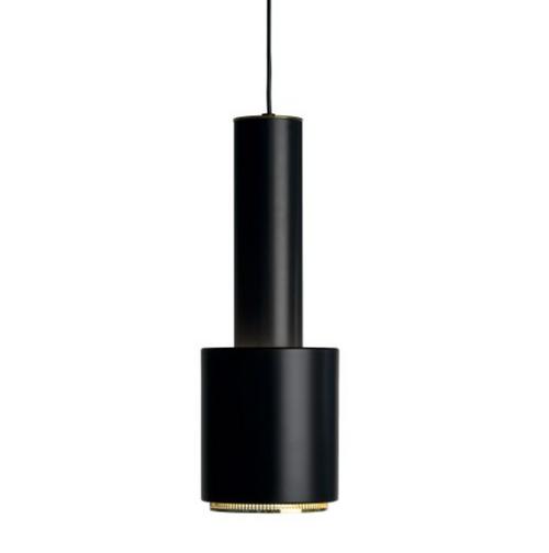 Shade: steel, black powder coating Ring: steel, brass-plated
