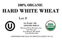 100% Organic Hard White Wheat