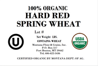 100% Organic Hard Red Spring Wheat for Baking