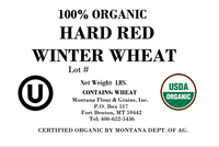100% Organic Hard Red Winter Wheat