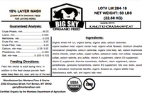 Organic Layer Mash - chicken feed - no corn