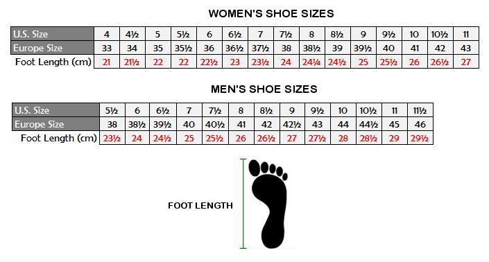 Uk Mens Vs Womens Shoe Sizes