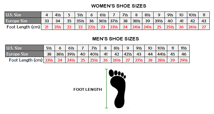 Feet Length To Shoe Size