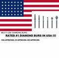 RATED #1 MULTI-USE DIAMOND BURS FOOTBALL  15 BURS/ PK