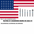 RATED #1 MULTI-USE DIAMOND BURS BARREL 15 BURS/ PK