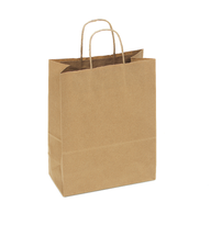 Kraft Bag 66# 10x7x12.75 100% Recycled Paper Bag w/twisted paper | 250 count