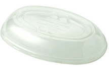 24 oz Burrito Bowl Lid | Compostable Plastic | Biodegradable PLA | 400 count