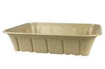 Plant Fiber Catering Tray 120oz -  Single Compartment - Compostable - 200 count