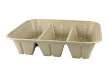 104 oz Fiber Catering Tray 3 compartment | 200 count