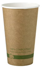 16 oz. Kraft Paper Cups  | Sample