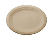 "10"" Fiber Oval Plate  | Sample"