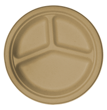 "10"" Round Plate- 3 Compartment  