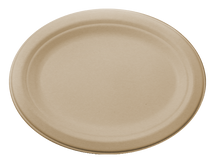 "12"" Fiber Oval Plate  | Sample"