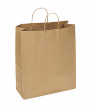 Recycled Kraft Shopping Bag, 16 x 6 x 19  | Sample