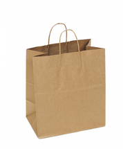 Recycled Kraft Shopping Bag 14.5 x 9 x 16  | Sample