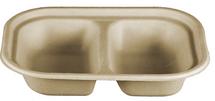 "8 x 6 x 1.5"" Double Compartment Fiber Tray  | Sample"