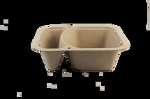 "8.5x6.5x2.25"" Fiber Tray 2 Compartment | Sample"