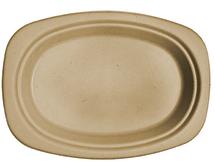 "9"" Fiber Oval Plate | 1,000 count"