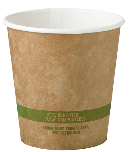 10 Oz Kraft Paper Cups Compole Hot Coffee 1 000 Count