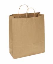 Recycled Kraft Shopping Bag, 16 x 6 x 19 | 200 count
