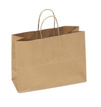 Recycled Kraft Shopping Bag, 16 x 6 x 12 | 250 count