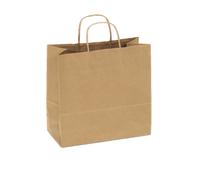 Recycled Kraft Shopping Bag, 10 x 5 x 10 | 250 count