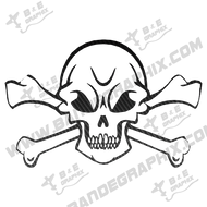 "Skull Decal- 8"" x 5.2"""