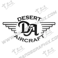 "Desert Aircraft Decal 7.9"" x 4"""