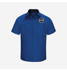 Bostig Logo RedKap SHORT SLEEVE PERFORMANCE PLUS SHOP SHIRT WITH OILBLOK TECHNOLOGY