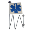 Blue Medical Rehab Flag/Light