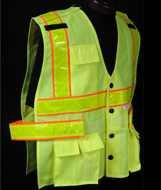 Fluorescent Orange and Fluorescent Yellow Vests. ANSI 107-2010 approved. Reflexite® brand Reflective Trim.