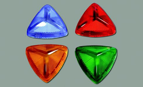 Lens covers for Lightman LED lights. Blue, Red, Amber and Green