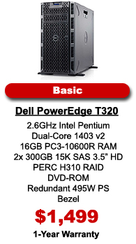 Dell PowerEdge T320 Server Basic Configuration
