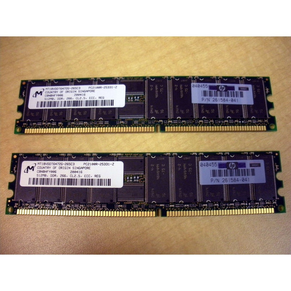 HP 300679-B21 1GB (2x 512MB) Memory Kit PC2100 (300700-001 261584-041) via Flagship Tech