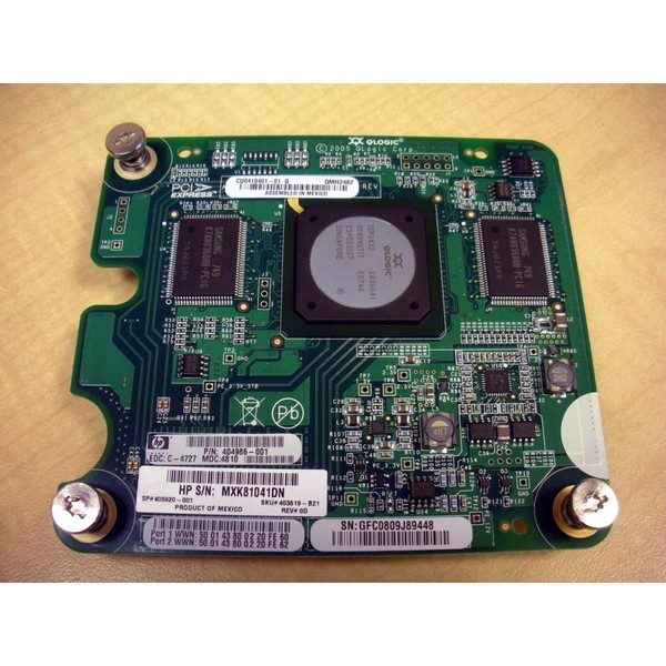 HP 403619-B21 404986-001 Qlogic QMH2462 4Gb FC Mezzanine Board for c-Class Blade via Flagship Tech