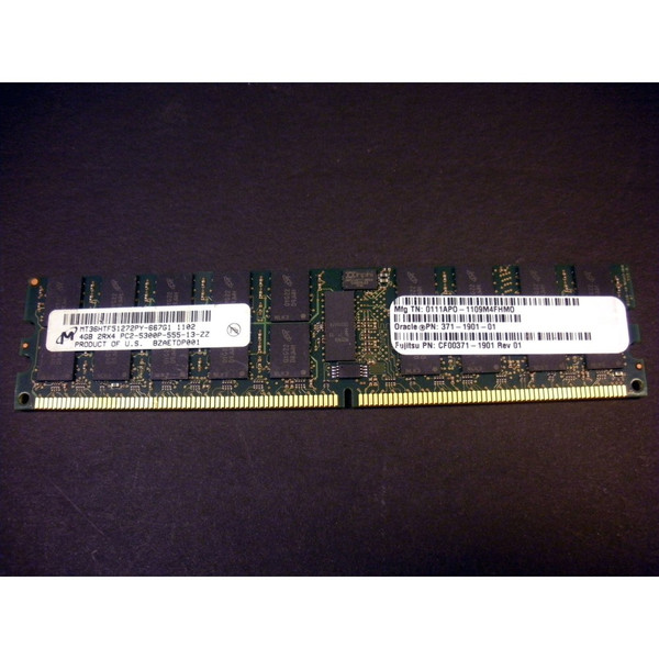 Sun 371-1901 4GB (1x 4GB) Memory DIMM for M4000 M5000 via Flagship Tech