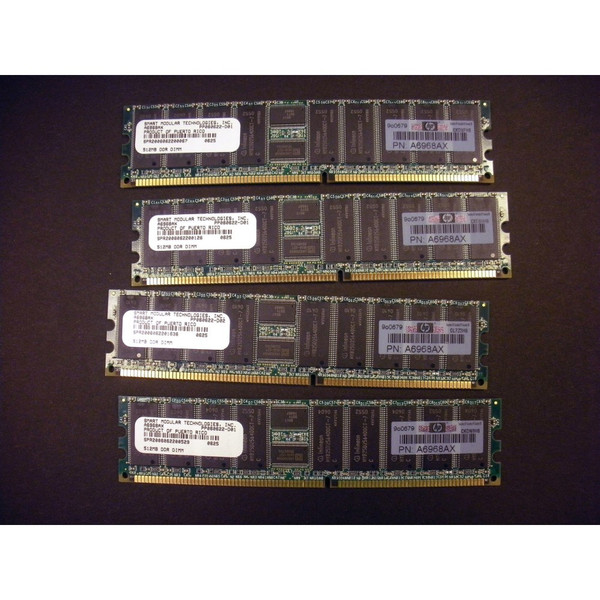 HP A6968A A9773A 2GB (4x 512MB) DDR PC2100 Memory Kit for rp34xx rp44xx rx4640 via Flagship Tech