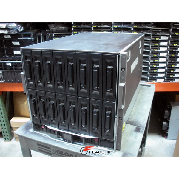 "HP 403321-B22 BLc7000 Single Phase 2x P/S, 4x Fan, 3"" LCD Enclosure (NO ICE LTU'S)"