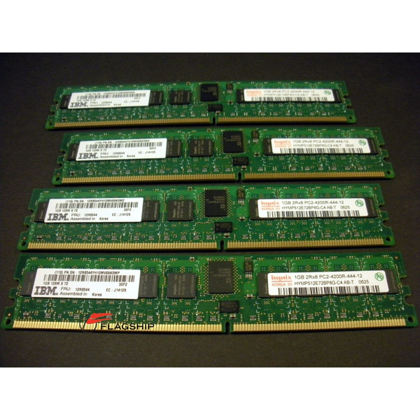 IBM 7893-91xx 4GB (4x 1GB) Main Storage Memory Kit 12R8544 16R0223
