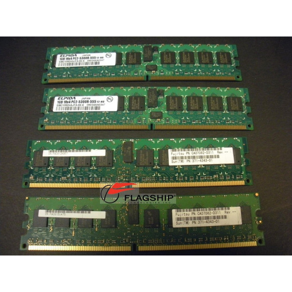 Sun SEWX2A1Z 4GB (4x 1GB) Memory Kit for M3000 371-4343