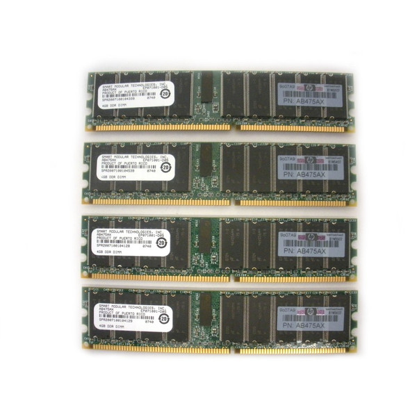 HP AB475A 16GB Memory Kit DDR PC2100 4x 4GB