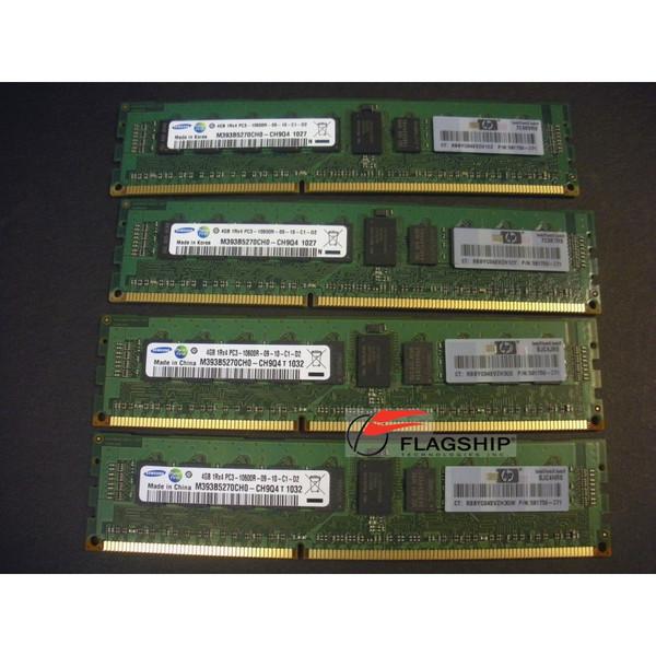 HP AH340A Superdome 2 16GB (4x 4GB) PC3-10600R-9 DDR3 Memory Kit (591750-371)