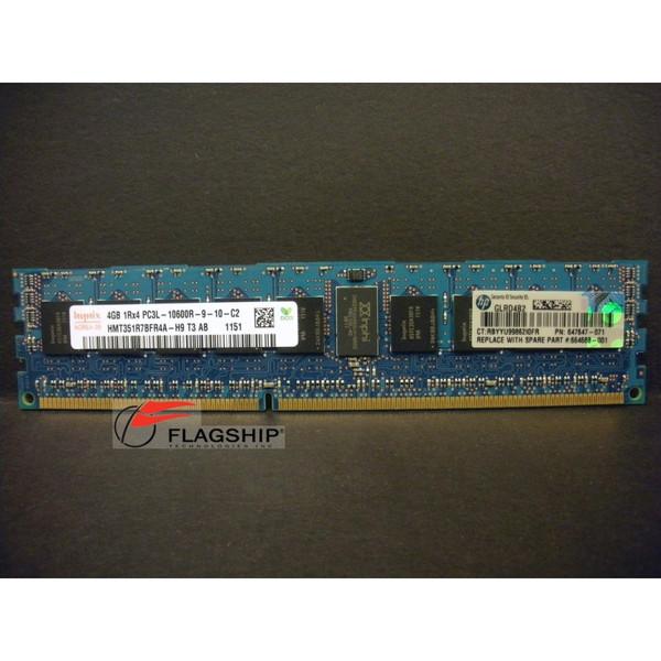 HP 664688-001 647647-071 647893-B21 4GB (1x 4GB) Memory Kit PC3L-10600R-9 for Gen8