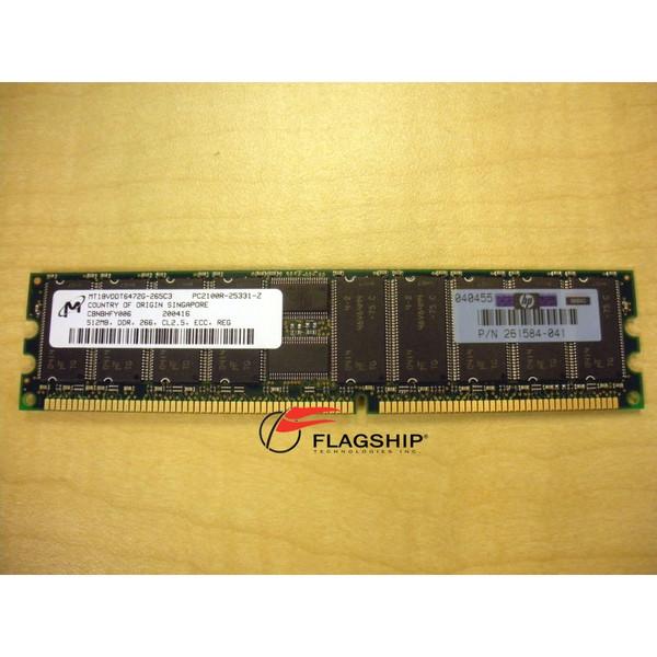 HP 287496-B21 512MB (1x 512MB) Memory Kit PC2100 (300700-001 261584-041)